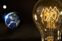 Lightbulb Planet Earth Royalty Free Stock Image