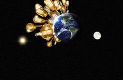Lightbulb Planet Earth Royalty Free Stock Image
