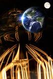 Lightbulb Planet Earth Stock Photo