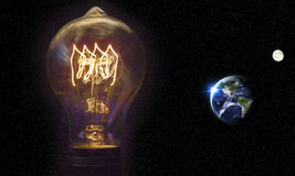 Lightbulb Planet Earth Royalty Free Stock Photos