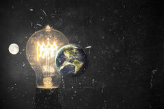 Lightbulb Planet Earth Royalty Free Stock Images