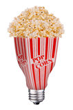 lightbulb popcorn Στοκ Φωτογραφία