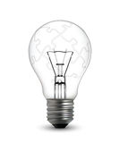 Lightbulb puzzle concept Royalty Free Stock Photo