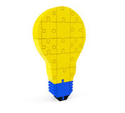 Lightbulb of the puzzle Royalty Free Stock Images