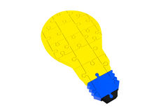 Lightbulb of the puzzle Royalty Free Stock Photos