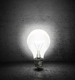 Lightbulb with room Royalty Free Stock Photos