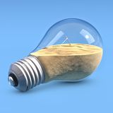 LightBulb with sand Royalty Free Stock Image