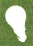 Lightbulb shape on grass Royalty Free Stock Photography
