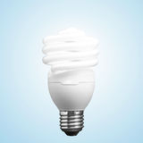 Lightbulb som isoleras på svart bakgrund Fotografering för Bildbyråer