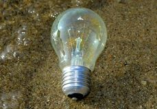 Lightbulb sparad från att drunkna arkivfoton