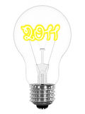 Lightbulb with sparkling 2011 digits inside Royalty Free Stock Image