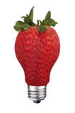 Lightbulb strawberry Stock Photo