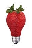 Lightbulb strawberry Stock Photo