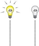 Lightbulb String On Off Royalty Free Stock Image