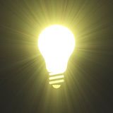 Bright idea invention energy lightbulb symbol Royalty Free Stock Image