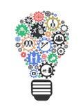 Lightbulb temawork Concept Royalty Free Stock Images