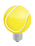 Lightbulb Tennis ball Stock Image