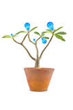 Lightbulb tree Stock Image