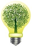Lightbulb with tree Royalty Free Stock Image