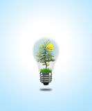 Lightbulb tree Royalty Free Stock Photography