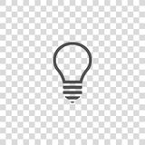 Lightbulb vector icon Royalty Free Stock Images