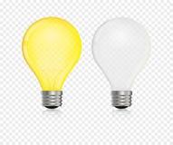 Lightbulb vector realistic. Bulb light glow  lamp Royalty Free Stock Image