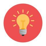 Lightbulb vlak pictogram Stock Foto