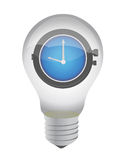 Lightbulb and watch Royalty Free Stock Photography
