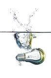Lightbulb in water Royalty Free Stock Photo