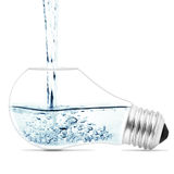 Lightbulb. With a water inside. Abstract concept vector illustration