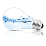 Lightbulb. With water inside. Abstract concept stock illustration