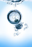 Lightbulb in water stock photography