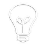 Lightbulb white background, concept idea Royalty Free Stock Images