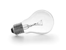 Lightbulb on white Royalty Free Stock Image