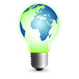lightbulb świat Obraz Royalty Free