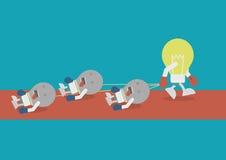 Lightbulb winner Stock Photography