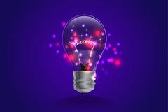 Lightbulbidébegrepp ljus och linje rörelse Royaltyfri Foto