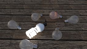 Lightbulbs που αντιπροσωπεύει τις ιδέες Στοκ Φωτογραφίες