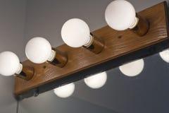 Lightbulbs Bathroom Royalty Free Stock Photo
