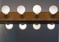 Lightbulbs Bathroom Royalty Free Stock Images