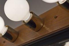 Lightbulbs Bathroom Stock Photography