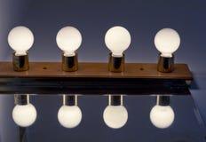 Lightbulbs Bathroom Stock Photos
