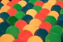 Lightbulbs. A colorful pattern of lightbulbs Stock Photography