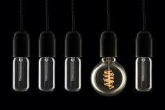 Lightbulbs den udda ut Arkivbilder