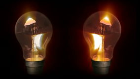 Lightbulbs Glowing Royalty Free Stock Photography