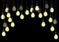 Lightbulbs hanging Royalty Free Stock Image