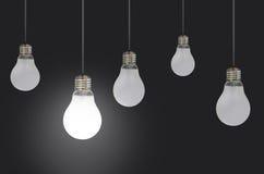 Lightbulbs stock images