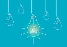 Lightbulbs i pomysł Zdjęcia Royalty Free
