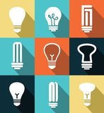 lightbulbs icons Royalty Free Stock Photo