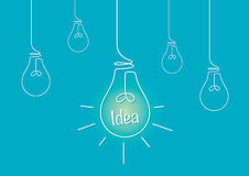 Lightbulbs and an Idea Royalty Free Stock Photos